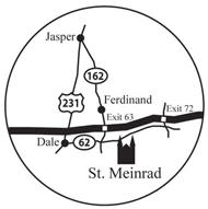 St Meinrad Indiana Map.Maps Directions Visit Us Saint Meinrad Archabbey